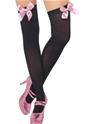 Bonnet Bas cuissardes noir rose
