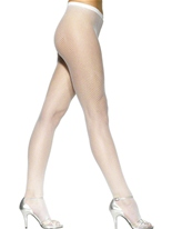 Collants blanc résille Bonnet