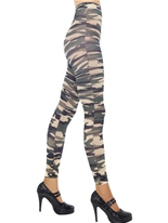 Collants sans pieds camouflage Bonnet