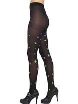 Collants noirs avec des étoiles Bonnet