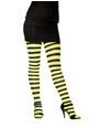 Bonnet Collants à rayures vert et noir Plus la taille