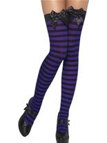 Cuissardes à rayures noir et violet Bonnet