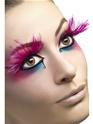 Cils Cils de panache de plume rose