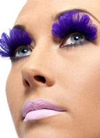 Cils plumes violet Cils