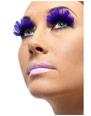 Cils Cils plumes violet