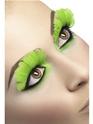 Cils Cils plumes vert néon
