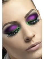 Cils noir et vert Diamante Cils
