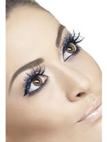 Spiderweb bleu Glitter cils Cils