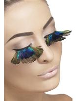Cils de plumes de paon Cils