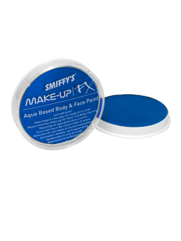 Déguisement Maquillage Visage et corps peinture néon bleu