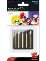 Bâtons de fard rouge bleu jaune noir blanc Déguisement Maquillage