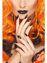 Jeu de vernis à ongles et rouge à lèvres noir Déguisement Maquillage
