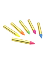 Crayons de couleur néon Déguisement Maquillage