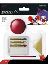 Clown maquillage Set blanc rouge jaune bleu Déguisement Maquillage