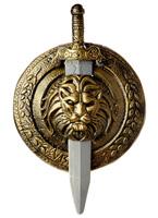 Gladiator 18 pouces bouclier et l'épée Épées & Couteaux