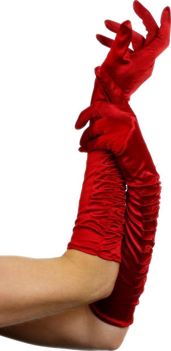 Gants Temptress longs gants rouge