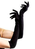 Jersey gants tissu noir Gants
