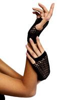 Noir gants courts résille Gants
