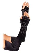Opéra de velours longueur Fingerless Gloves Gants