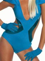 Lady GaGa gants bleus Gants