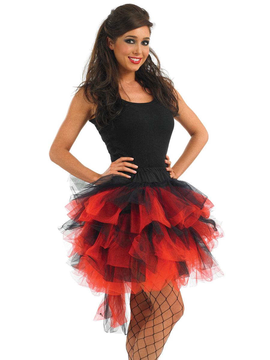 tutu burlesque rouge noir jupons tutus accessoire deguisement 24 09 2018. Black Bedroom Furniture Sets. Home Design Ideas