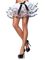 Noir et blanc jupon Tulle en couches Jupons & Tutus
