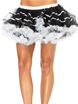 Couches jupon Tulle rayé blanc et noir Jupons & Tutus