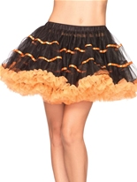 Orange et noir jupon Tulle rayé en couches Jupons & Tutus