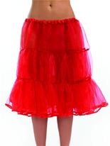 Jupon long rouge Jupons & Tutus