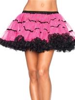 Couches de Tulle rayé jupon Neon rose et noir Jupons & Tutus
