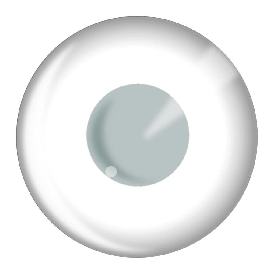 Lentilles de contact Lentilles de Contact de bloc blanc