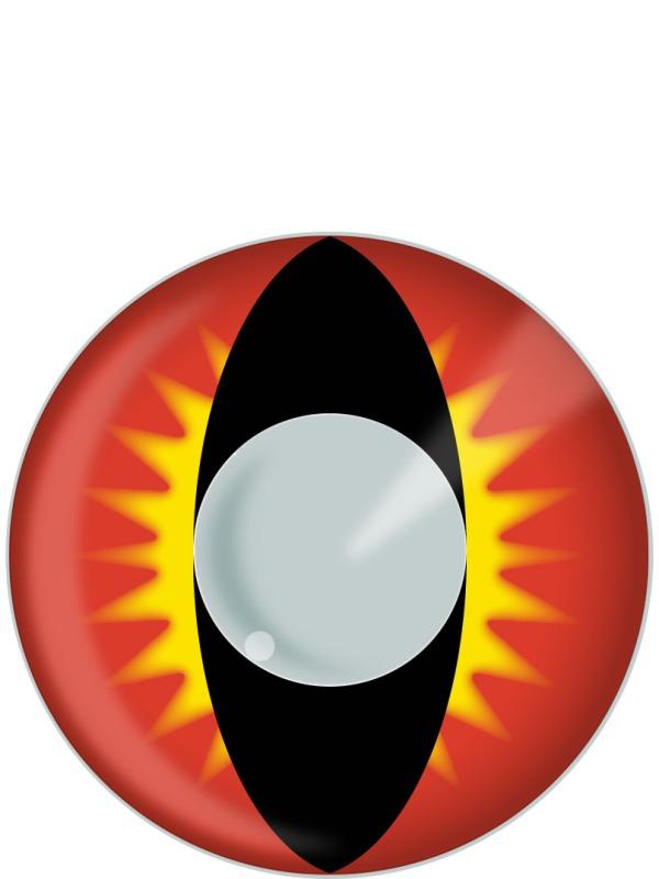 Lentilles de contact Phoenix rouge, jaune et noir lentilles de Contact