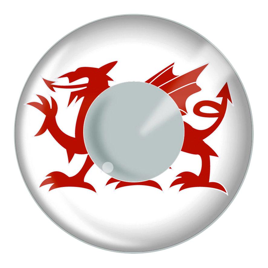 Lentilles de contact Welsh drapeau lentilles de Contact