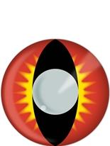 Phoenix rouge, jaune et noir lentilles de Contact Lentilles de contact