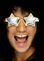 Or fiche de Star Superstar en forme Lunette de soleil