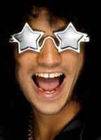Superstar en forme étoile tons argent Lunette de soleil