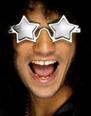 Lunette de soleil Superstar en forme étoile tons argent