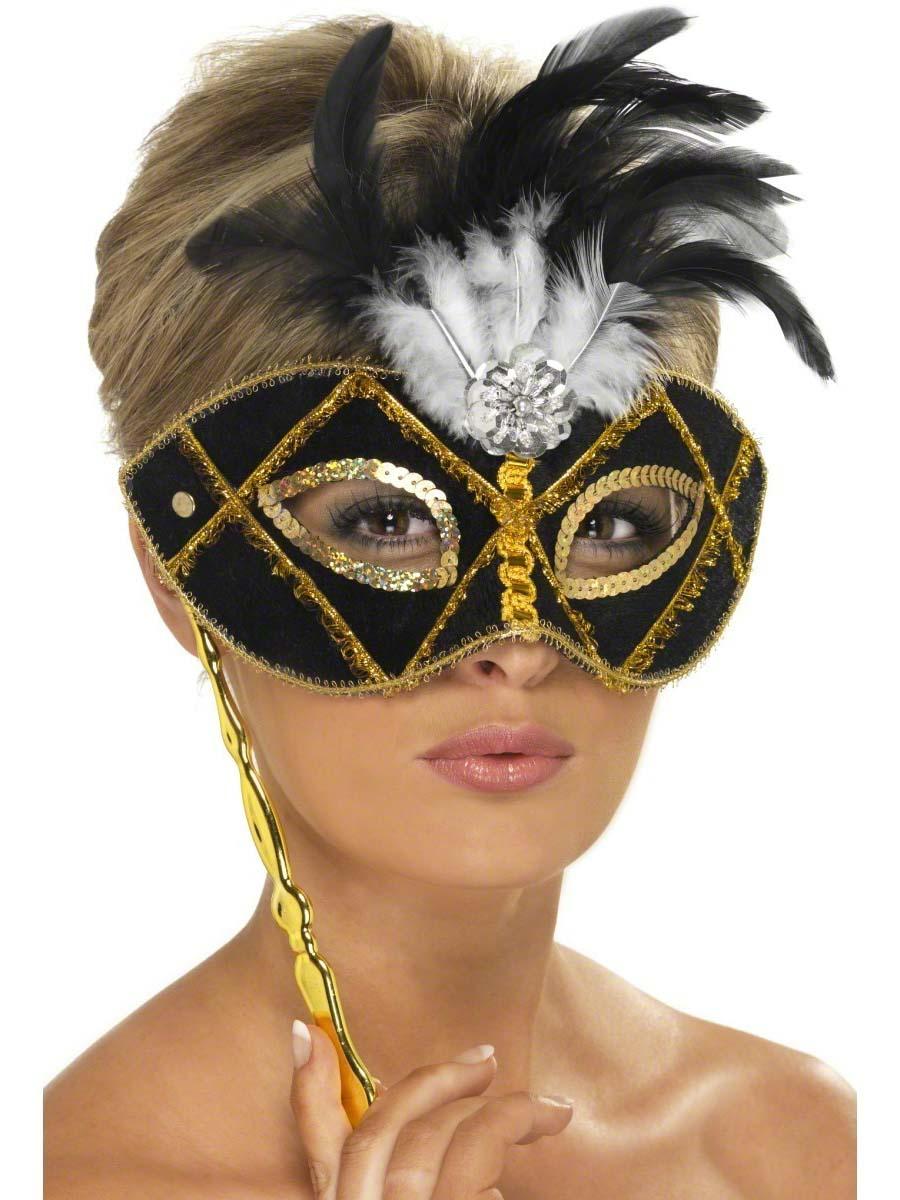 Loups Eyemask noir et or