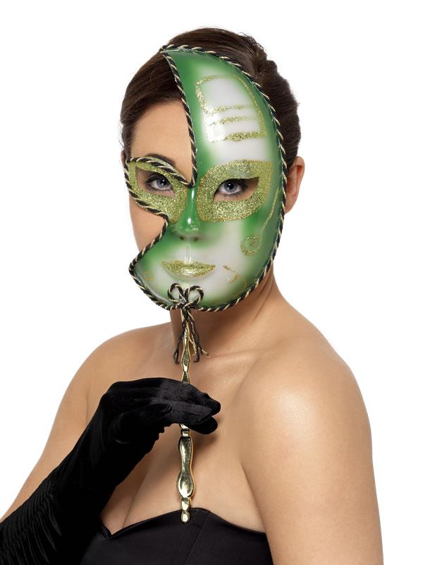 Loups Mardi Gras plein visage masque
