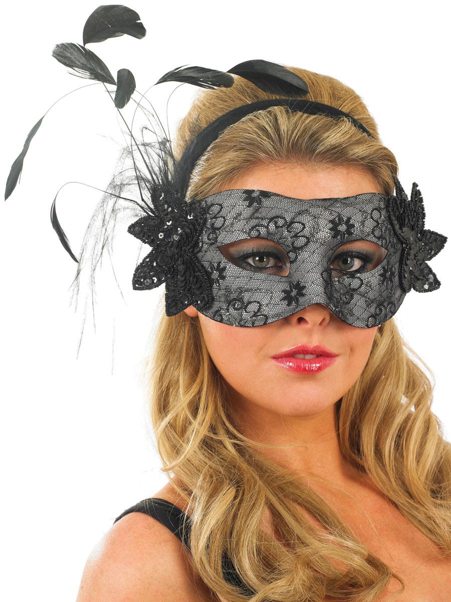 masque dentelle noire loups accessoire deguisement 07 11 2018. Black Bedroom Furniture Sets. Home Design Ideas