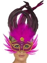 Eyemask plumes rose Loups