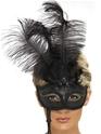 Loups Fantaisie Baroque noir Eyemask