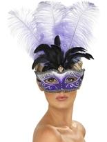 Colombina vénitien masque multicolore Loups
