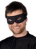 Bandit masque pour les yeux et cravate foulard noir Loups