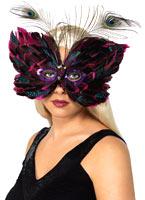 Papillon plume ?il masque rouge Loups