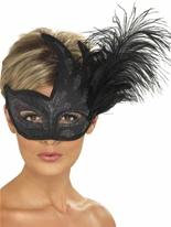 Orné noir Columbina Eyemask Loups