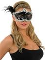Loups Masque paillettes argent et noir pour les yeux
