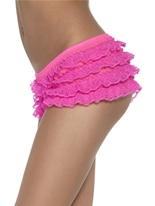 Ruffle Lace culotte Neon Pink Sous-vêtements