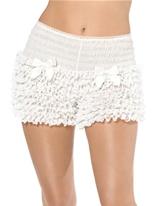 Pantalon froissé blanc Sous-vêtements