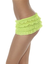 Ruffle Lace culotte Neon Green Sous-vêtements